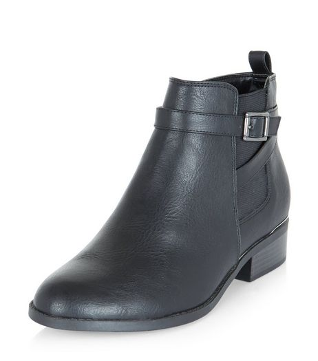 Teens Black Leather-Look Chelsea Boots | New Look