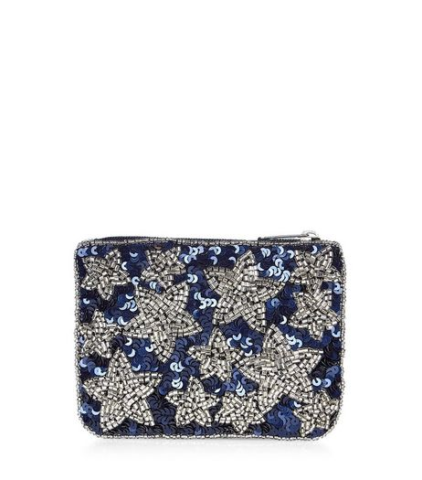 Blue Embellished Star Purse | New Look