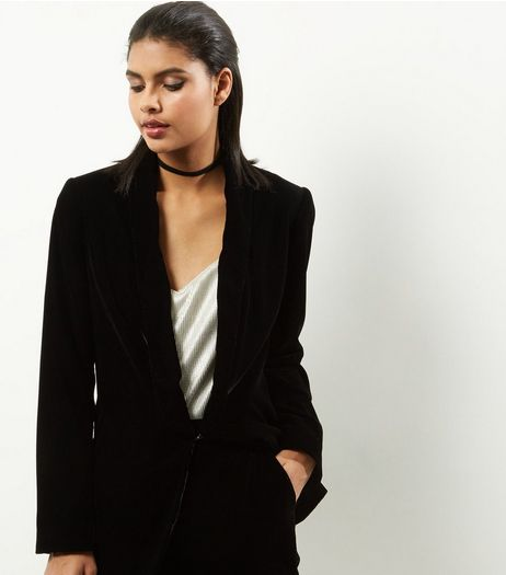 Black Velvet Suit Jacket  | New Look