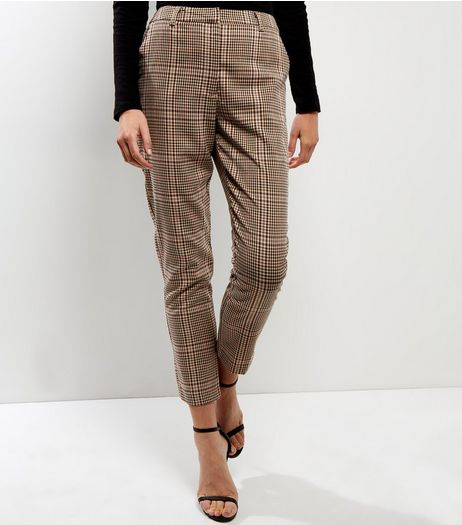 Brown Check Trousers | New Look