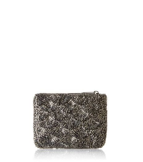 Silver Bead Embellished Coin Purse | New Look