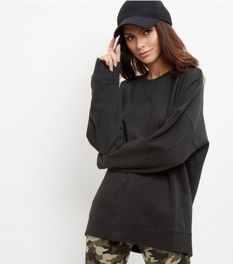 Tall Black Balloon Sleeve Sweater | New Look