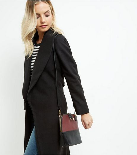 Dark Red Colour Block Across Body Bag | New Look