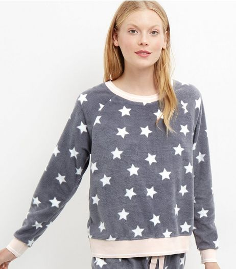 Grey Star Print Pyjama Top | New Look
