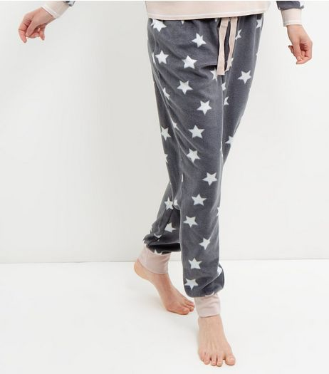 Grey Star Print Pyjama Bottoms | New Look