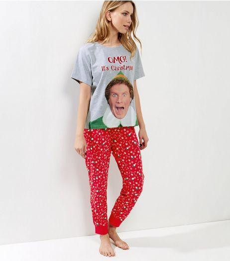 Red Christmas Elf Pyjama Set  | New Look