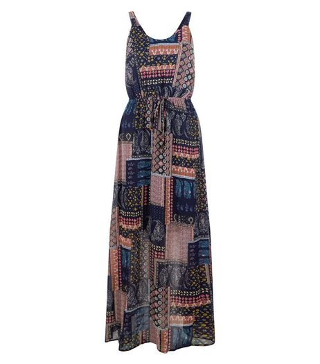 Blue Vanilla Patchwork Print Maxi Dress | New Look