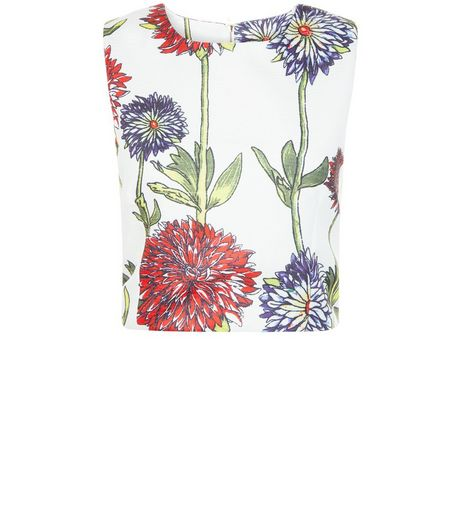 Cameo Rose White Floral Print Shell Top | New Look
