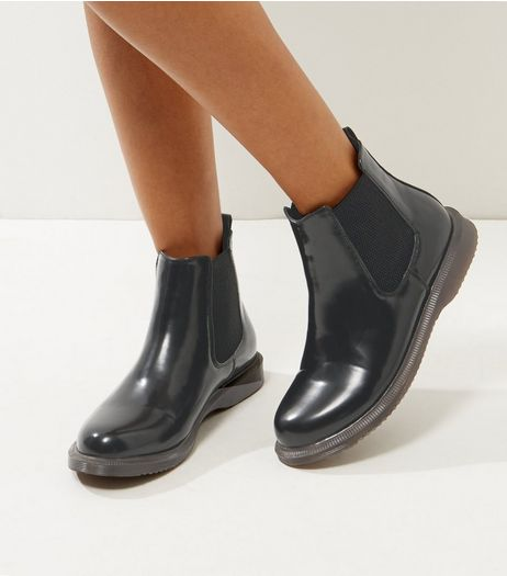 Wide Fit Black Chunky Chelsea Boots | New Look