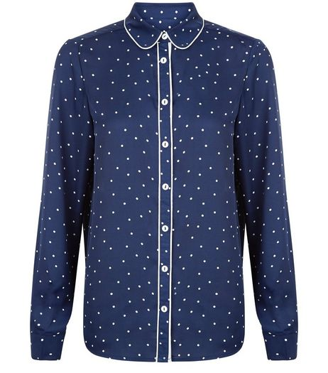 Cameo Rose Blue Polka Dot Blouse | New Look