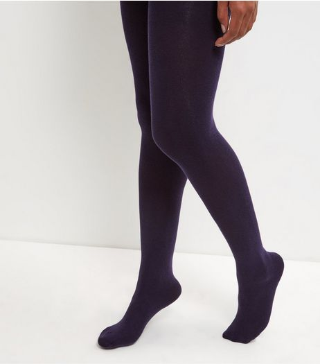 Navy Cotton Mix Tights | New Look