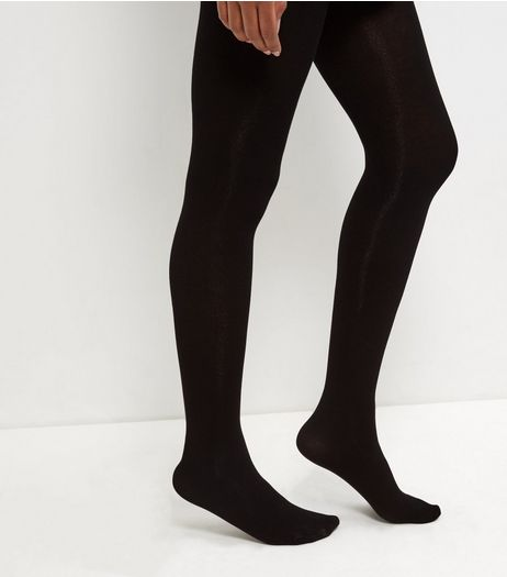 Black Modal Luxury Tights | New Look