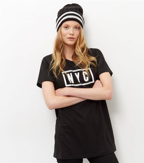 Black Stripe Beanie  | New Look