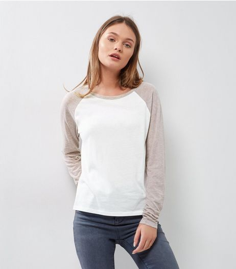 Lilac Raglan Sleeve T-Shirt | New Look