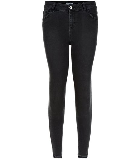 Teens Black Step Hem Skinny Jeans | New Look