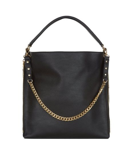 Black Chain Strap Shoulder Bag | New Look