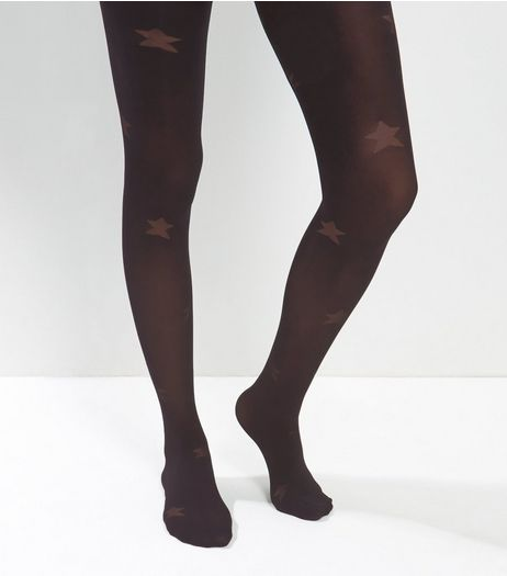 Black Star Pattern Tights | New Look