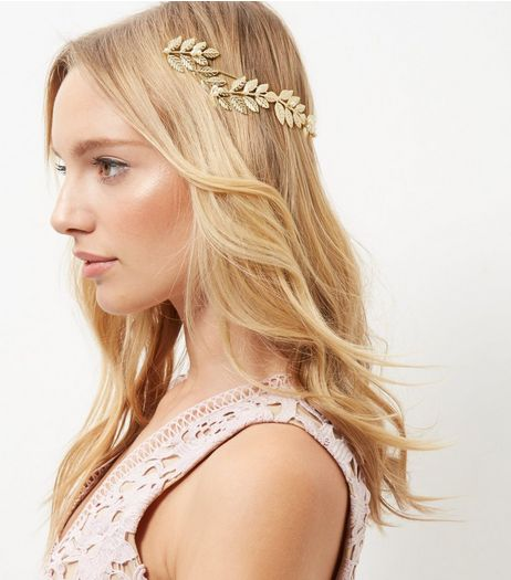 Gold Grecian Pearl Headband | New Look