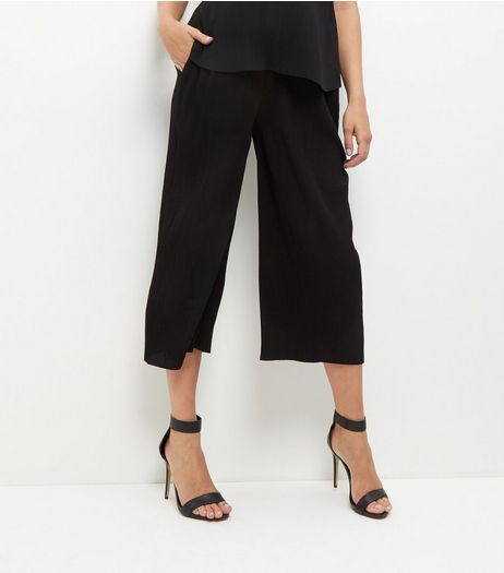 Maternity Black Pleated Trousers | New Look
