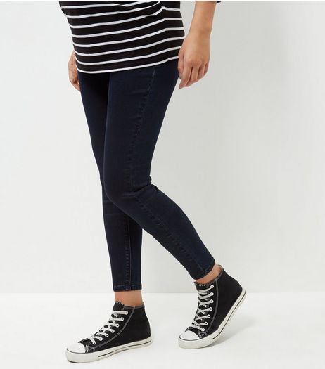 Maternity Navy Sports Jeggings | New Look