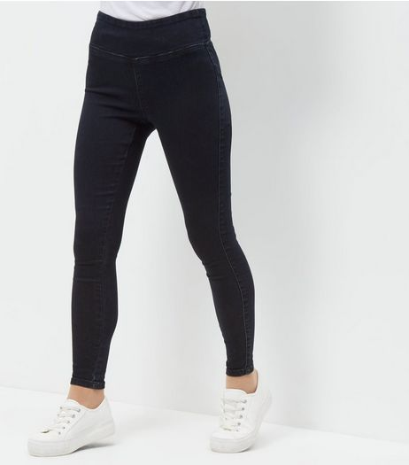 Petite Navy High Waisted Jeggings | New Look