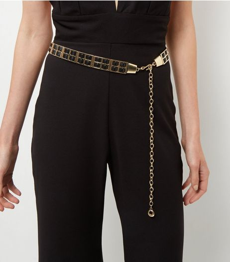 Gold Leather-Look Chain Link Belt | New Look