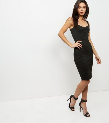 Black Bandage Bodycon Midi Dress  | New Look