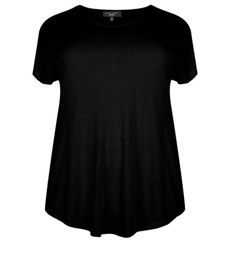 Curves Black T-Shirt | New Look