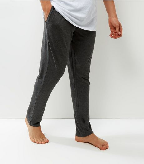 Dark Grey Elasticated Waist Pajama Bottoms | New Look