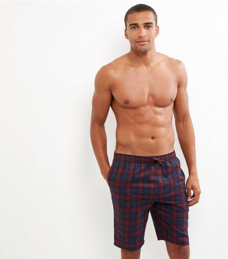 Red Check Print Long Boxers | New Look