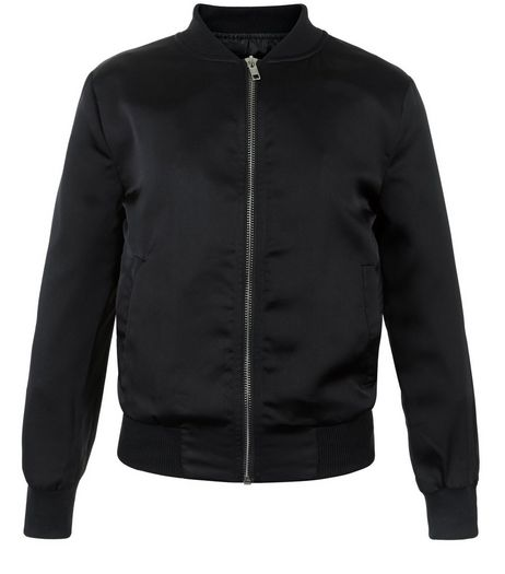 Girls Black Bomber Jacket | New Look