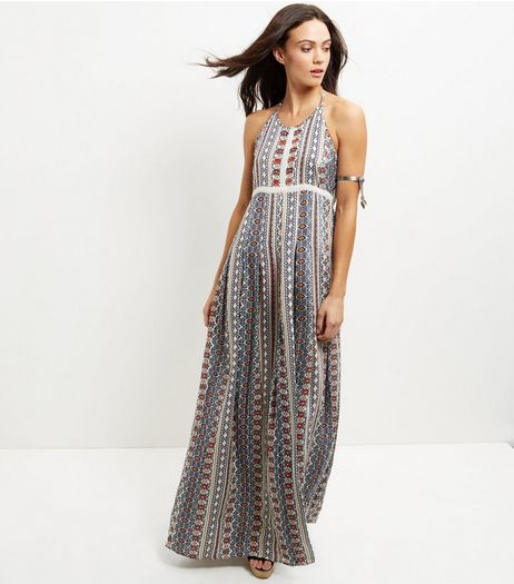 Anita and Green Blue Abstract Print Maxi Dress | New Look