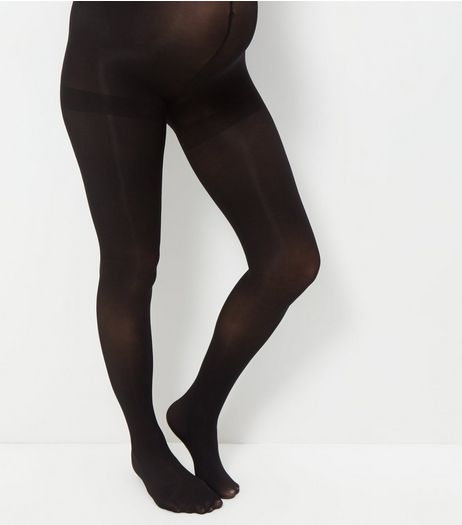 Maternity Black 70 Denier Tights | New Look