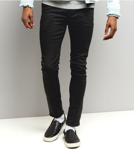 Black Coated Skinny Jeans | New Look