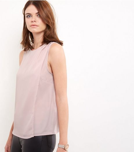 Mid Pink Layered Sleeveless Top  | New Look