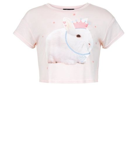 Girls Pink Princess Bunny Print T-shirt | New Look