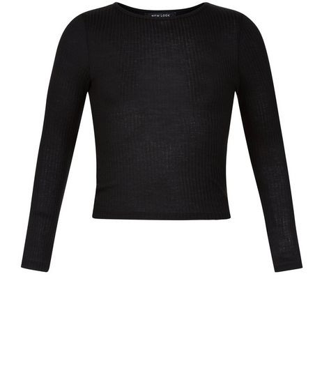 Girls Black Long Sleeve Top | New Look
