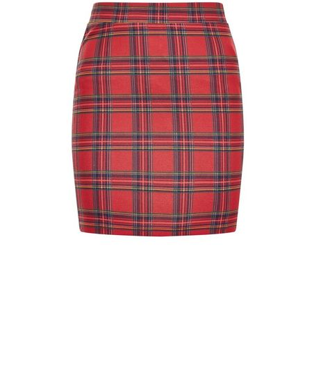 Girls Red Tartan Check Mini Skirt  | New Look