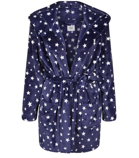 Teens Blue Star Print Robe | New Look
