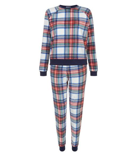 Teens Blue Check Pyjama Set | New Look