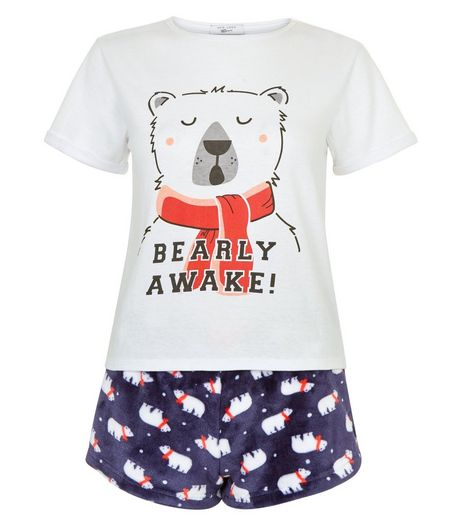 Teens Bearly Awake Pajama Set | New Look