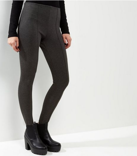 Dark Grey Stirrup Leggings | New Look