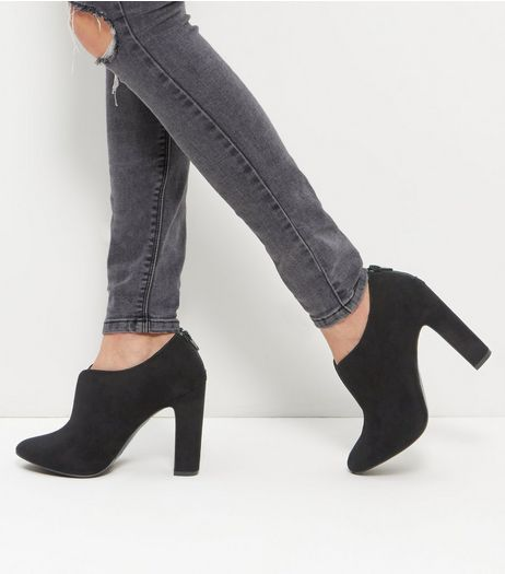 Black Comfort Suedette Block Heel Boots | New Look