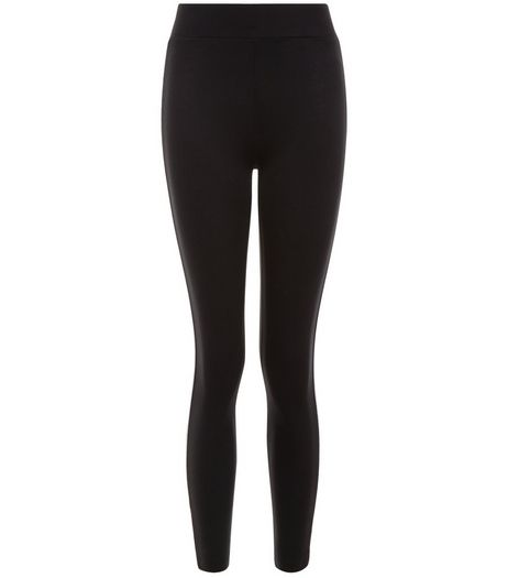 Teens Black Pipe Contrast Trim Leggings  | New Look