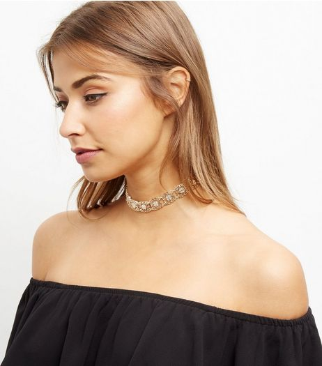 Gold Filigree Choker | New Look