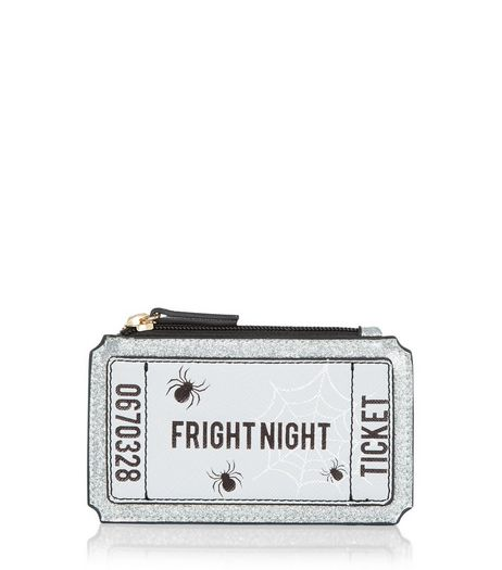 Black Fright Night Ticket Coin Purse | New Look