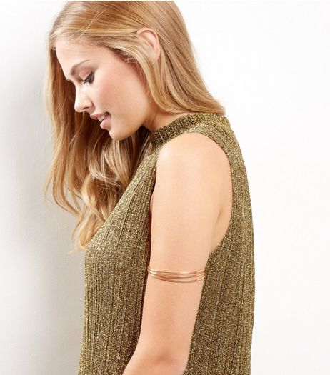 Gold Layered Armcuff | New Look