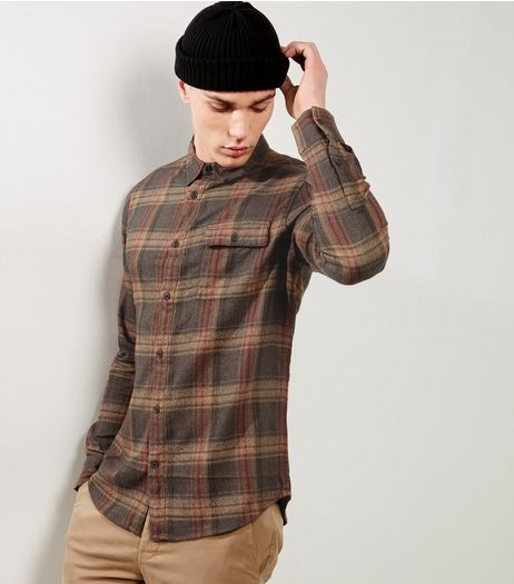 Brown Check Shirt | New Look