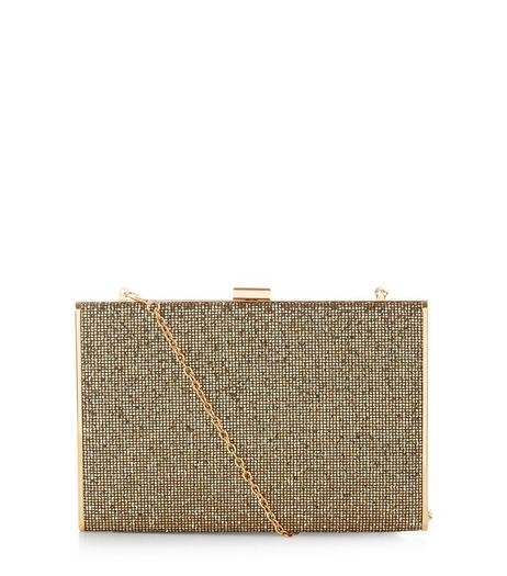 Gold Box Clutch  | New Look