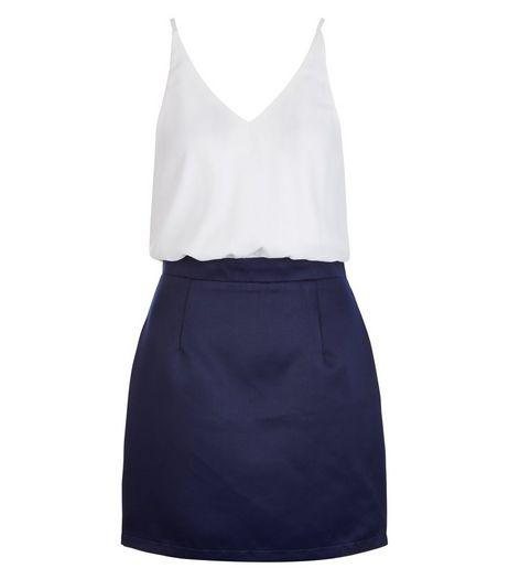 AX Paris Navy 2 in 1 Dress | New Look